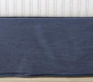 Pottery Barn Kids Reed Crib Skirt, Navy