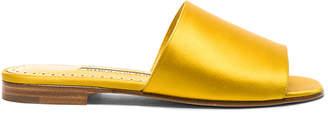 Manolo Blahnik Satin Rapalla Slides