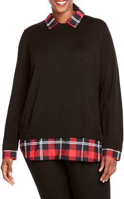 Foxcroft Shoshana Layered Look Sweater