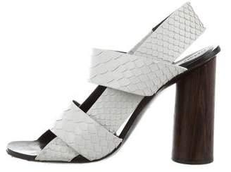 Proenza Schouler Python Slingback Sandals