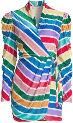 Rococo Sand Rainbow Stripe Faux Wrap Dress