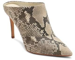 Dolce Vita Women's Cinda Snake-Embossed Leather High-Heel Mules