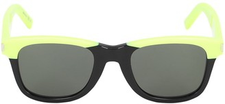 Saint Laurent Squared Neon Acetate Sunglasses