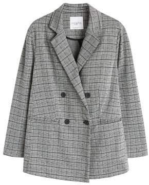 Violeta BY MANGO Check unstructured blazer