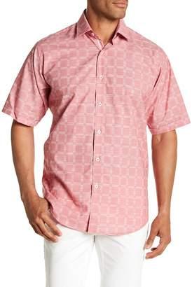 Bugatchi Short Sleeve Classic Fit Woven Shirt
