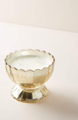 Anthropologie Apricot Blossom Glass Flower Candle