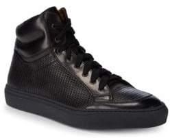 Aquatalia Asher Woven Waterproof Leather Sneakers