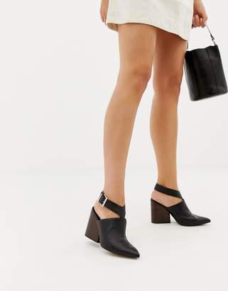 Asos Design DESIGN Tiger leather pointed heeled shoes