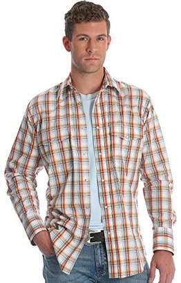 Wrangler Men's Wrinkle Resist Long Sleeve Snap Front Shirt