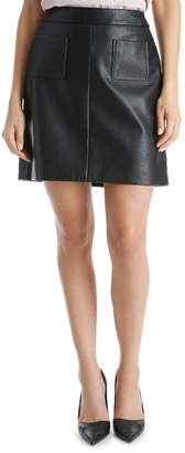Basque Pu Pocket Mini Skirt