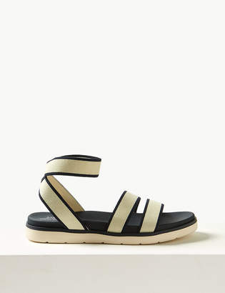 baf32a921bc1 Light As AirTMMarks and Spencer Elastic Ankle Strap Sandals