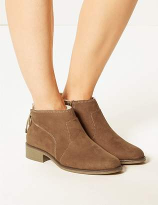 Marks and Spencer Wide Fit Tie Back Ankle Boots