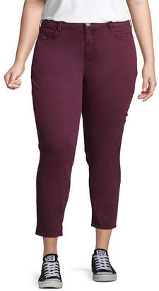 Arizona Slim Fit Ankle Jeggings-Juniors Plus