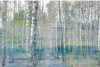 Parvez Taj Teal Tree Forest Canvas Wall Art