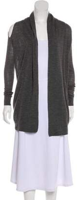 AllSaints Wool Cold-Shoulder Cardigan