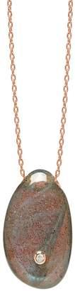Lola Rose London - Curio Diamond Large Pebble Necklace Labradorite