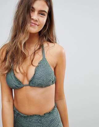 Asos DESIGN FULLER BUST Mix and Match Crochet Soft Triangle Bikini Top