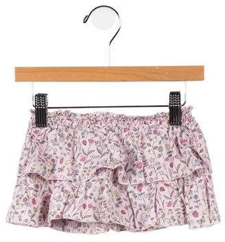 Fendi Girls' Tiered Floral Print Skirt
