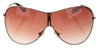 Tory Burch Tinted Shield Sunglasses