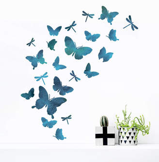 Oakdene Designs Watercolour Butterfly And Dragonfly Wall Sticker Set