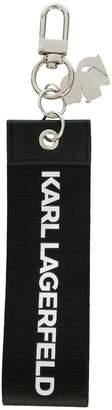 Karl Lagerfeld webbing tag keychain