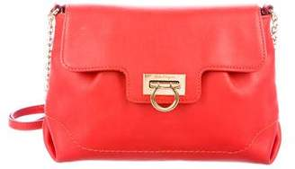 Salvatore Ferragamo Gancio Leather Flap Bag
