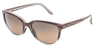 Maui Jim Honi HS758-22B | Polarized Sandstone with Blue cateye Frame Sunglasses
