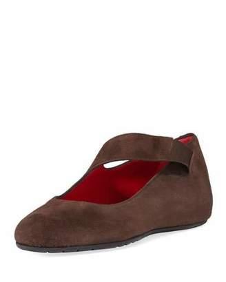 Sesto Meucci Rian Asymmetric Comfort Wedge Flat, Dark Brown