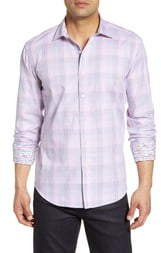 Bugatchi Shaped Fit Plaid Shirt