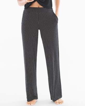 Cool Nights Pajama Pants Mod Dot Black SH