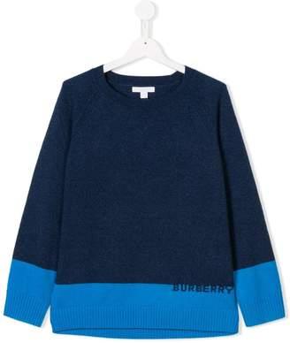 Burberry cashmere logo jumper