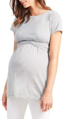 Ingrid & Isabel Maternity Short-Sleeve Tie-Waist Top