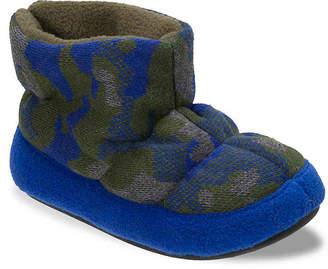 Dearfoams Camo & Fleece Toddler & Youth Boot Slipper - Boy's