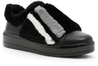 Prada Linea Rossa Sneakers With Fur