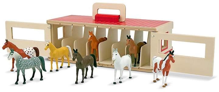 Melissa & Doug Show Take-Along Show-Horse Stable Play Set