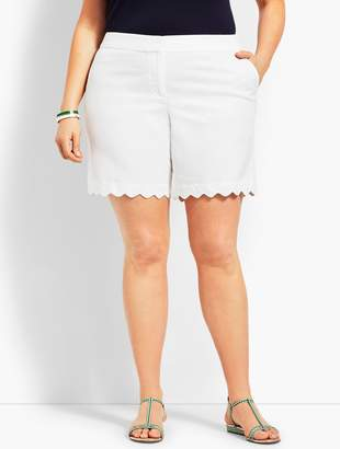 Talbots Plus Size Exclusive Scallop Short