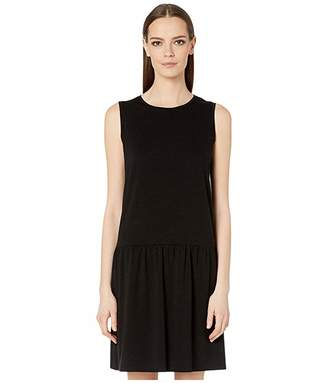 Eileen Fisher Fine Tencel Jersey Stretch Round Neck Mini Dress
