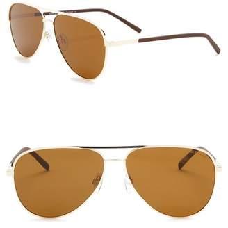 Cole Haan Polarized 60mm Aviator Sunglasses
