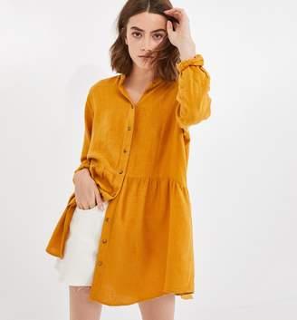 Promod Maxi shirt in linen blend
