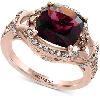 Effy Final Call Garnet (3-3/8 ct. t.w.) and Diamond (1/2 ct. t.w.) Ring in 14k Rose Gold
