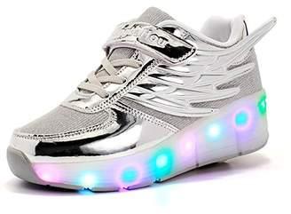 Heelys Believed LED Flashing Single Wheels Wings Roller Skate Fashion Sneakers For Kids