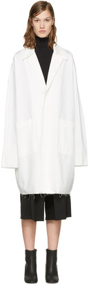 Off-White White Work Coat $1,085 thestylecure.com