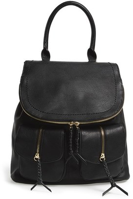 Sole Society Faux Leather Backpack - Black $59.95 thestylecure.com