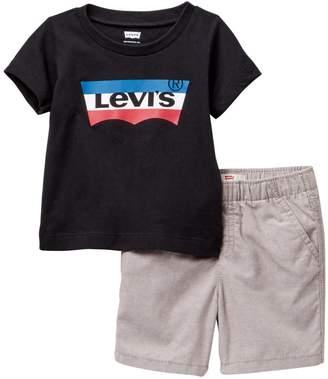 Levi's LVB Short Sleeve Tee & Woven Shorts Set (Baby Boys)