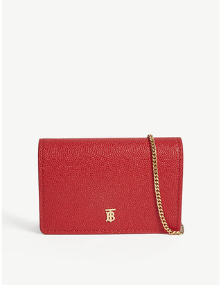 Burberry Jessie grained leather wallet-on-chain