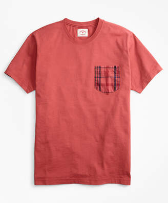 Brooks Brothers Cotton Jersey Woven-Pocket T-Shirt