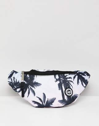 Hype Logo Fanny Pack In Palm Print