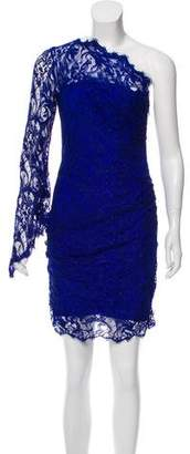 Emilio Pucci One-Sleeve Lace Dress