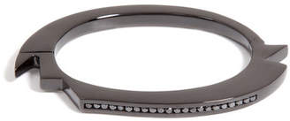 Lynn Ban Black Rhodium Bracelet 2 with Black Diamonds
