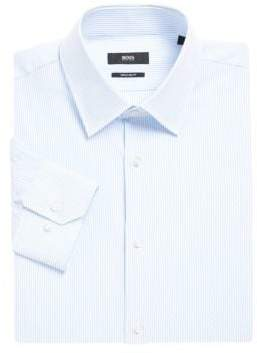 HUGO BOSS Long-Sleeve Cotton Button-Down Dress Shirt